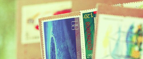Image of mail stamps on recommendation letters